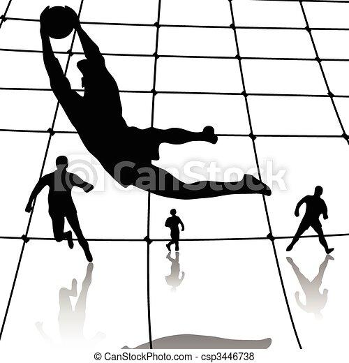 Football player-Soccer player - csp3446738
