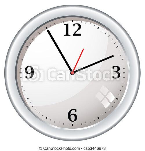 Vectores de moderno retro pared reloj moderno pared - Relojes modernos de pared ...