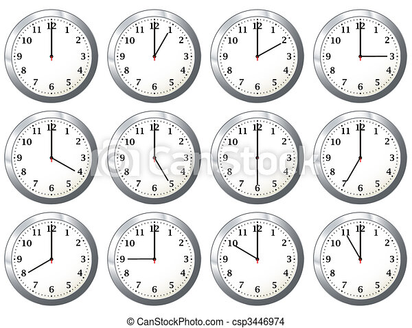 office clock all times - csp3446974