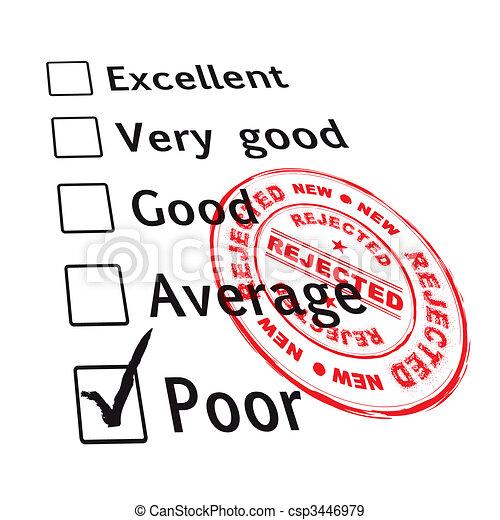 poor evaluation failed - csp3446979