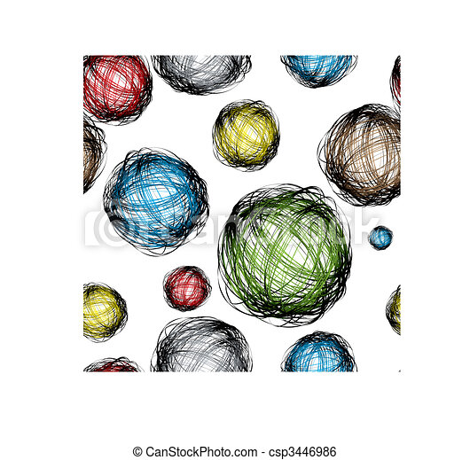 scribble ball color - csp3446986