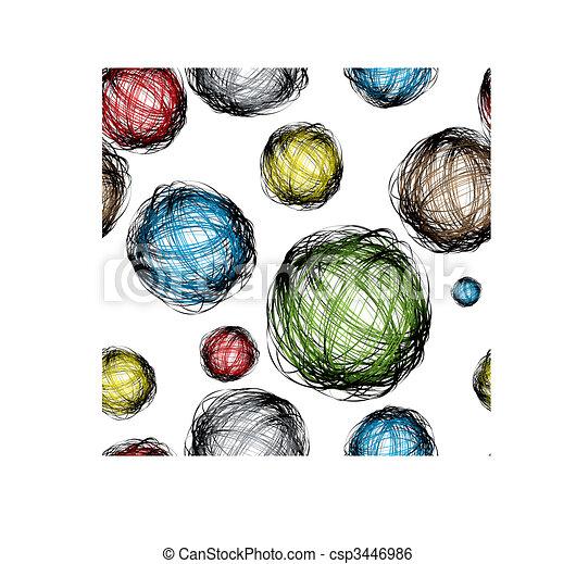 scribble ball color - csp3446986