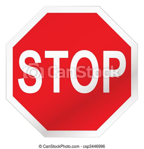 stop road sign - csp3446996
