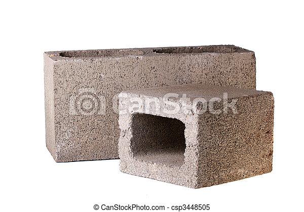 stock bilder von ziegelsteine beton ziegelsteine gemacht von beton csp3448505 suchen. Black Bedroom Furniture Sets. Home Design Ideas