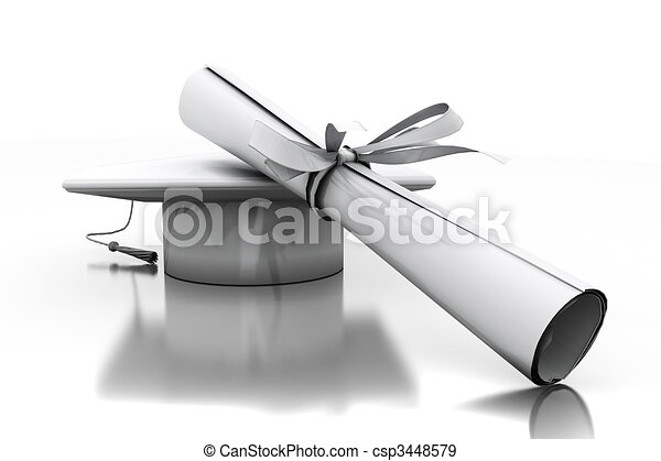 Diploma of a bachelor - csp3448579