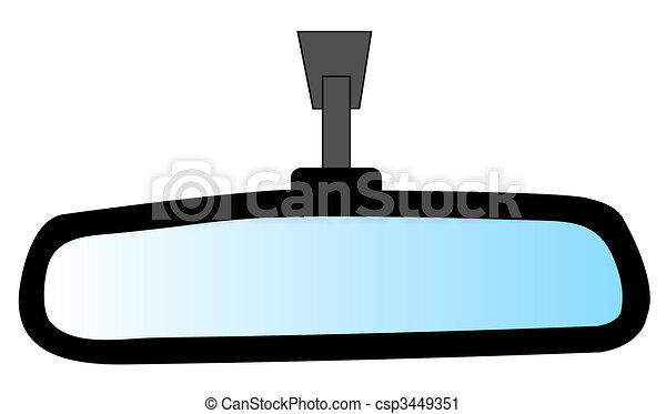 rear view mirror from an automobile - illustration - csp3449351