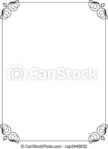 decorative border  - csp3449632