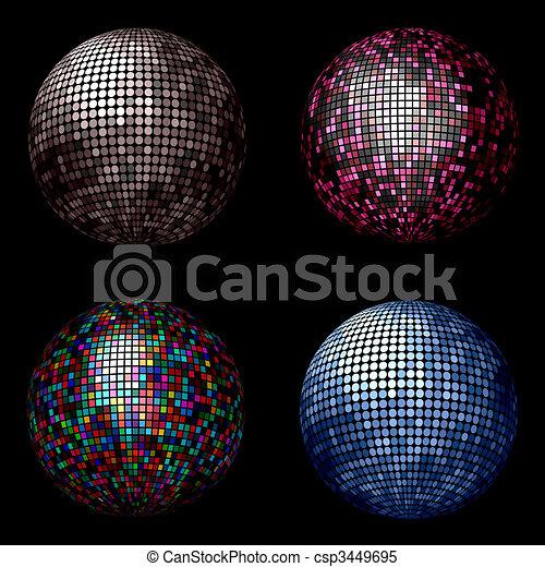 Disco balls - csp3449695