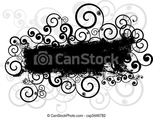 Grunge swirls background - csp3449782