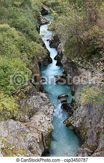 Beautiful untouched wilderness in West Slovenia, Europe. - csp3450787