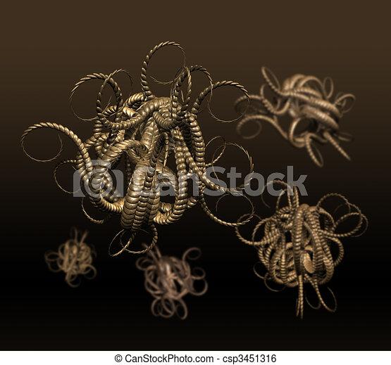 Alien viruses spreading - csp3451316