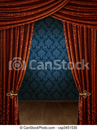 Grand opening curtains - csp3451530