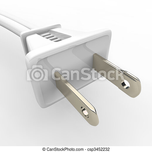 White Power Cord and Plug - csp3452232