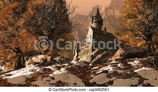 Medieval Castle - csp3452551