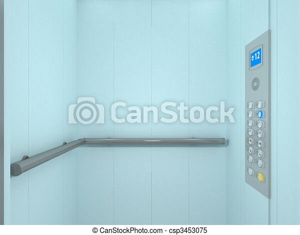 illustration ascenseur int rieur banque d. Black Bedroom Furniture Sets. Home Design Ideas