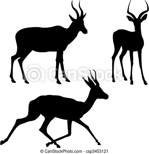 Antelope Line Drawing Antelope Abstract Vector