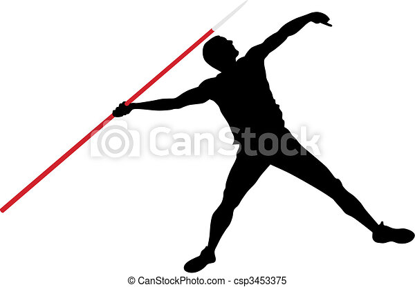Javelin throw - csp3453375