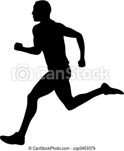 Vecteurs eps de coureur abstract vecteur illustration de marathon csp3453379 - Coureur dessin ...