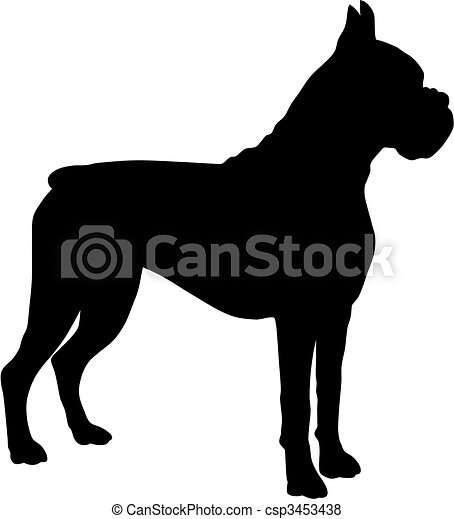Boxer Dog Silhouette Clip Art of dog silhouette Boxer
