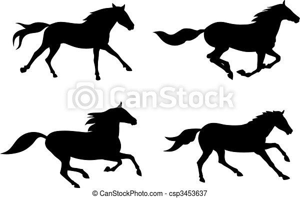 Horses Illustrations and Clip Art. 47,095 Horses royalty free ...