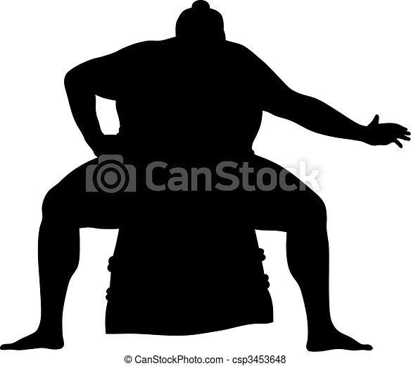 Sumo wrestler - csp3453648