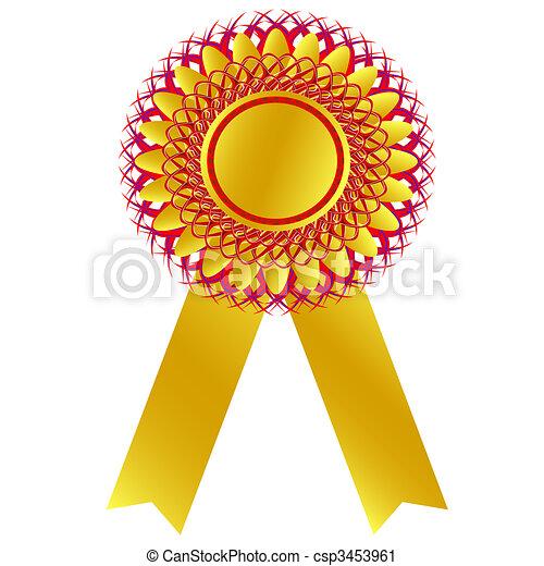 Vector Clip Art of champion medal - West gold medal: champion medal ...