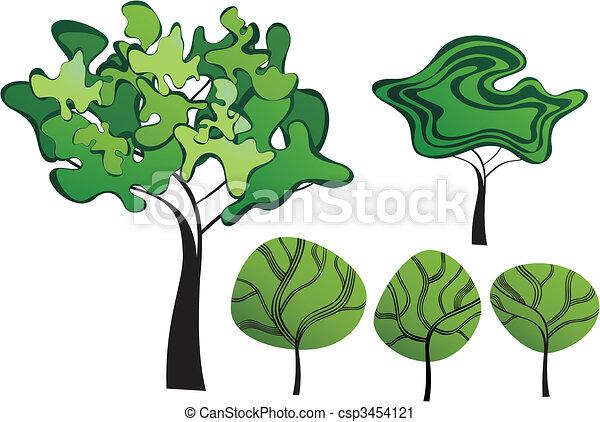Set of creative trees - csp3454121