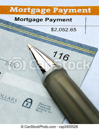 Paying the mortgage for the primary residence - csp3455526