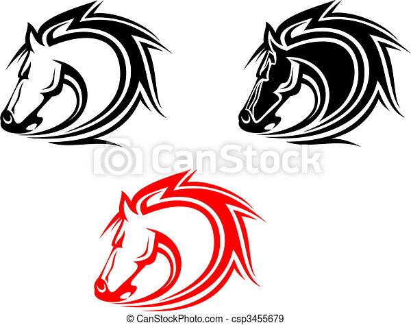 Horses tattoo - csp3455679