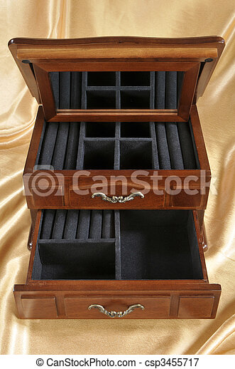 Wooden box for keeping valuables - csp3455717