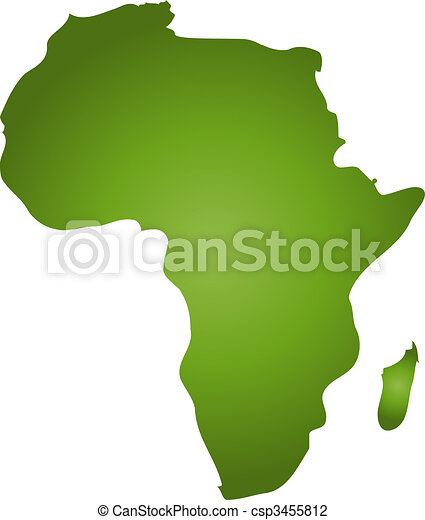 Clip Art of Map of Africa - A stylized blank map of Africa in ...