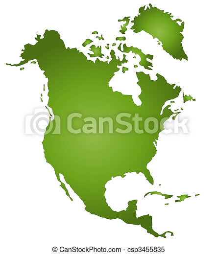 Map Of North America - csp3455835