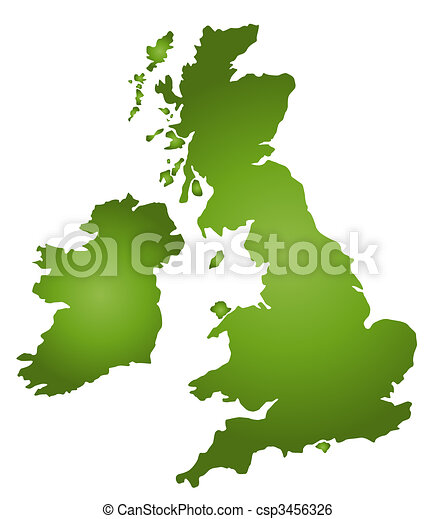 Map Of Great Britain - csp3456326