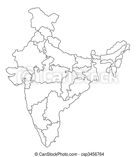 Kleurplaat Kaart Frankrijk Drawing Of Map Of India An Outlined Map Of India All