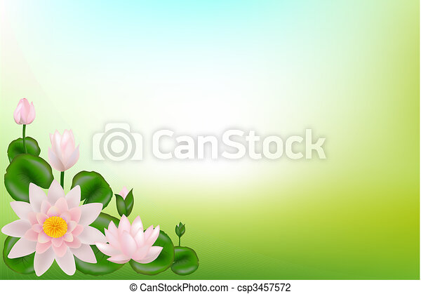 Background with Lotuses  - csp3457572