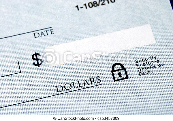Write the dollar amount on the check - csp3457809