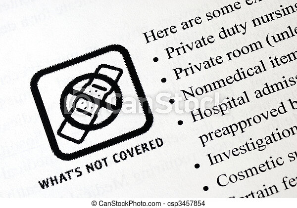 What is not included in the health insurance? - csp3457854