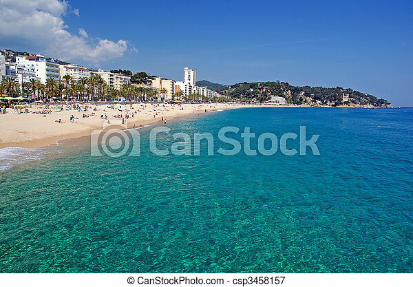 Seascape of Lloret de Mar beach, Spain. More in my gallery. - csp3458157