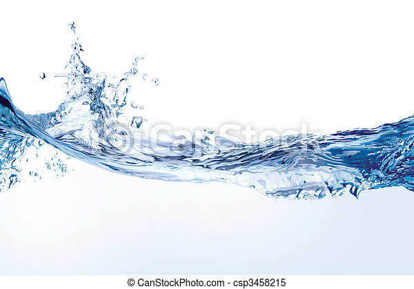 Water splash isolated on white - csp3458215