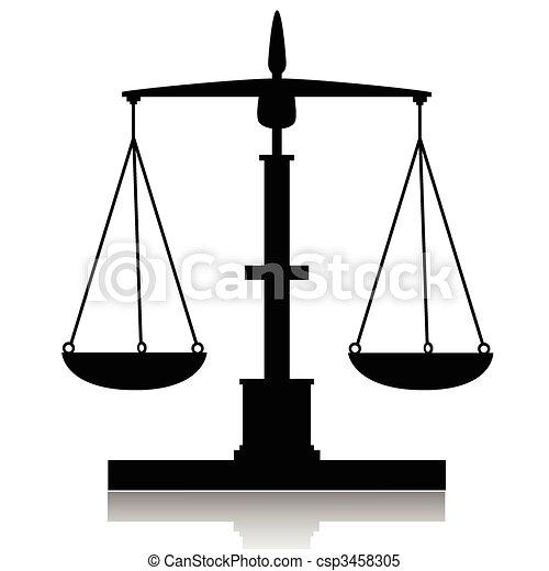 Vecteur clipart de libra balance illustration de silhouette balances sur csp3458305 - Dessin de balance ...