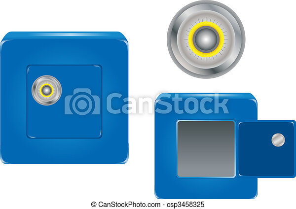 Safe with Combination Lock - csp3458325