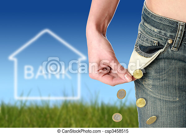 Financial crisis concept. - csp3458515