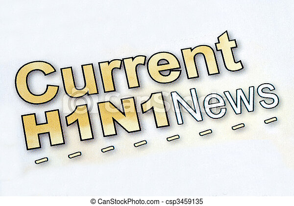 Check out the current Swine Flu H1N1 news - csp3459135