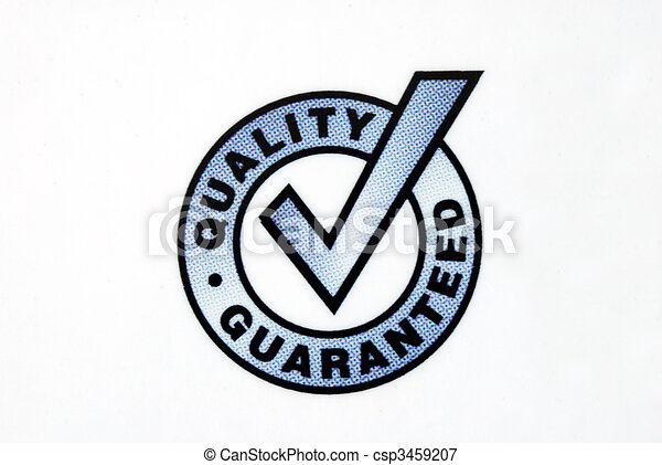 Quality guaranteed sign isolated on the white background - csp3459207