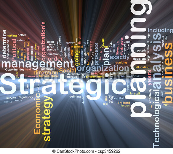 Strategic planning word cloud box package - csp3459262