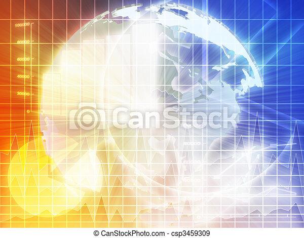 Asian finance background - csp3459309