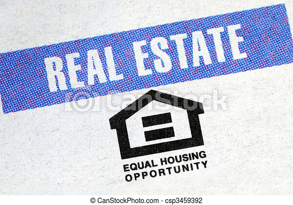 real, propriedade, indústria, igual, oportunidade, habitação - csp3459392