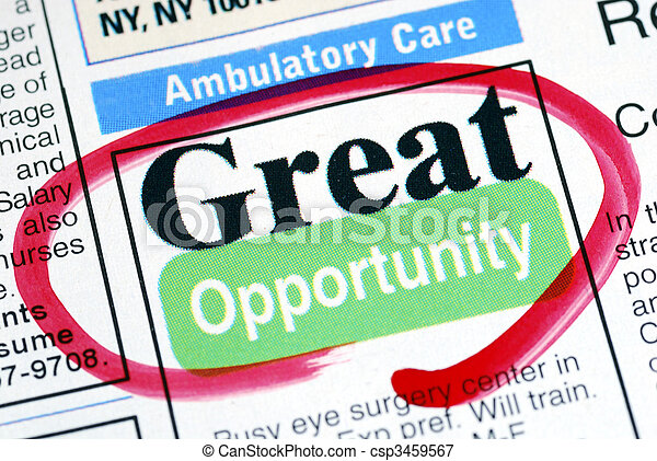 Focus on the great opportunity in job searching - csp3459567