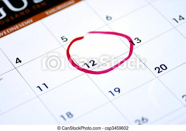 Mark an important day on the calendar - csp3459602