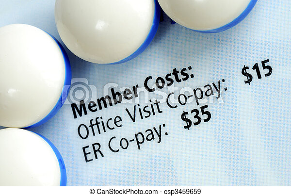 Close up view of the medical insurance card - csp3459659